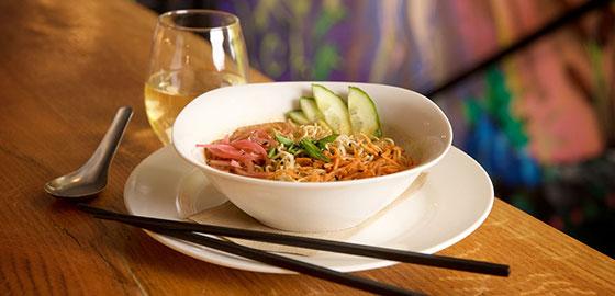 Noodle Bowl at Sip Restaurant and Bar