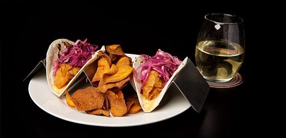 Fish Tacos at SIP Restaurant and Bar